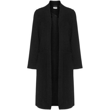 Junarose Black Plus Size Open front long line coat