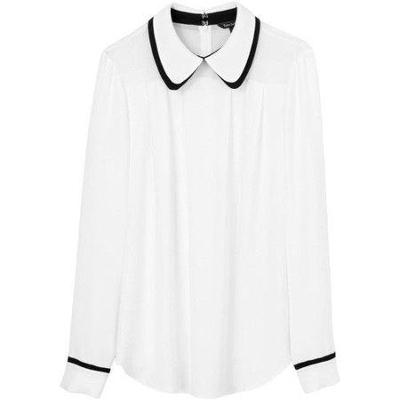 Tara Jarmon Peter Pan Collar Blouse ($315)