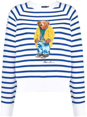 striped teddy bear sweatshirt
