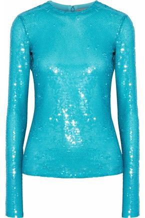 Sequined silk-chiffon top   EMILIO PUCCI   Sale up to 70% off   THE OUTNET