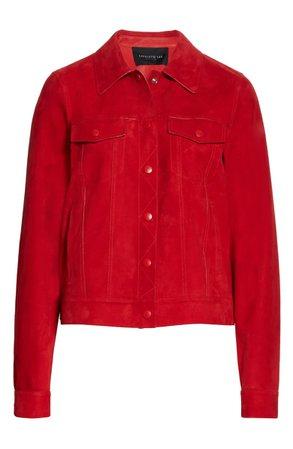 Lafayette 148 New York Destiny Suede Jacket