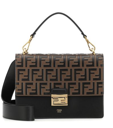 Kan U Medium Leather Shoulder Bag - Fendi | Mytheresa