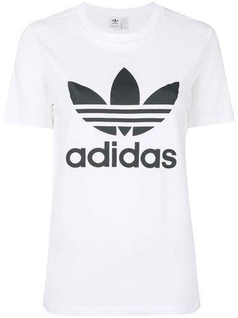 White Adidas Originals Trefoil Logo T-shirt | Farfetch.com