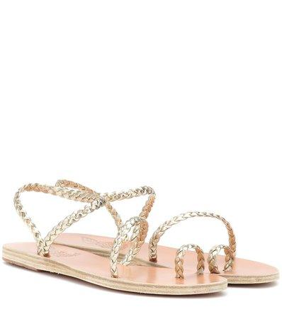 Eleftheria Metallic Leather Sandals - Ancient Greek Sandals
