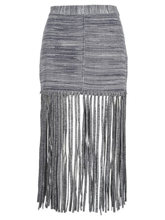 Chloe Chloé Fringed Skirt