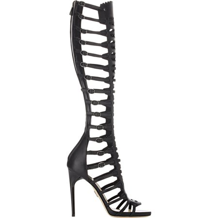 black gladiator sandals heels - Google Search