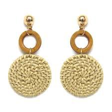 straw earrings - Google Search