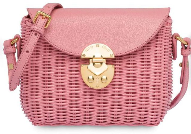 Wicker Crossbody Bag
