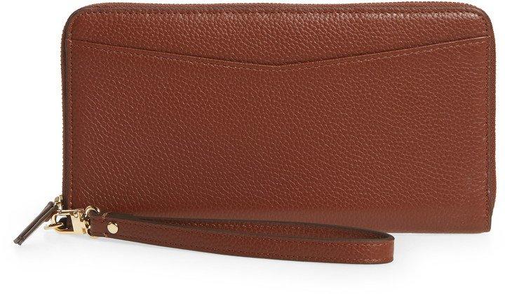 Zip Around Leather Continental Wallet