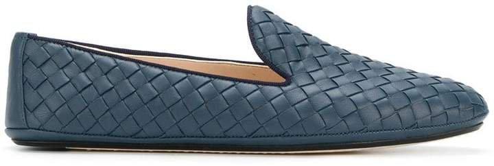 dark navy Intrecciato nappa fiandra slipper