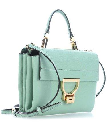 Coccinelle Arlettis Shoulder Bag grained cow leather mint green - E1CD555B701-G01 - Designer Bags Shop - wardow.com