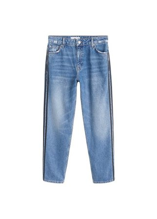 MANGO Contrasting trims straight jeans