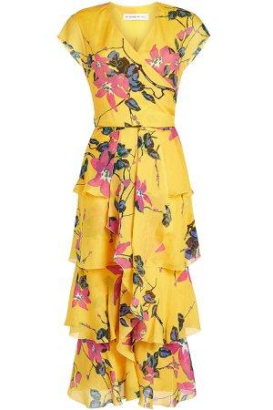 Jade Printed Silk Chiffon Dress Gr. IT 44