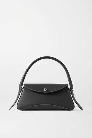 Cosmo Leather Shoulder Bag - Anthracite