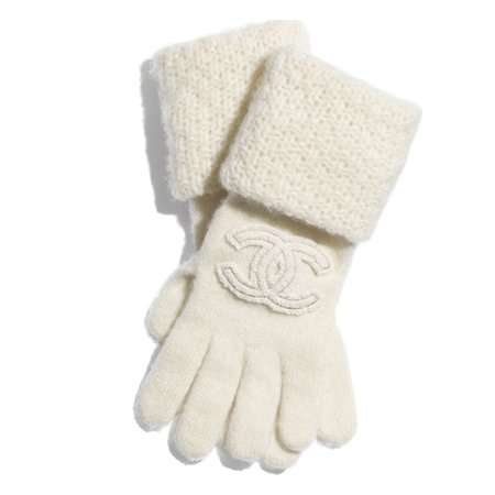 gloves Cashmere & Silk Ivory