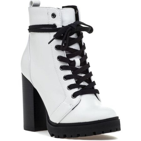 Black & White Ankle Boots
