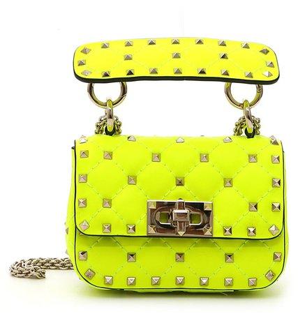 Micro Rockstud Spike It Leather Shoulder Bag