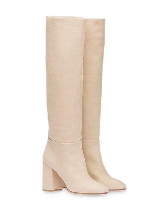 Miu Miu washed-denim Boots - Farfetch