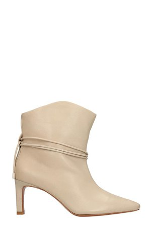 Zimmermann Beige Calf Leather Ankle Boots