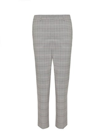 Pink and Red Check Ankle Grazer Trousers | Dorothy Perkins
