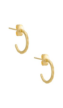 gorjana Taner Mini Hoops en Gold | REVOLVE