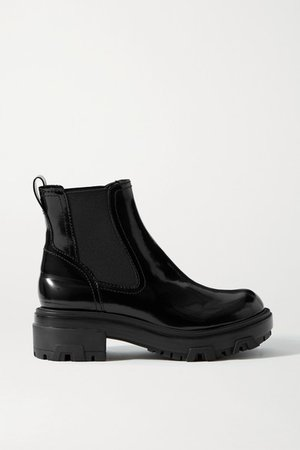 Shaye Patent-leather Chelsea Boots - Black
