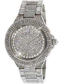 Michael Kors Women's Camille MK5720 Gold Stainless-Steel Japanese Quartz Fashion Watch - Walmart.com