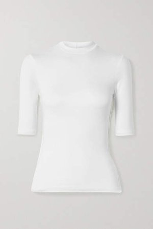Twenty Montréal TWENTY Montreal - Mackay Ribbed Stretch-jersey T-shirt - White