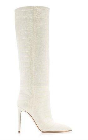 Croc-Embossed Leather Knee Boots By Paris Texas   Moda Operandi
