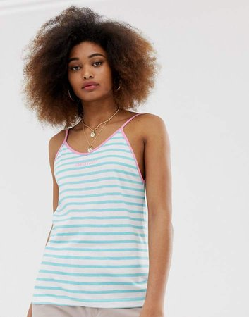 Cami Tank Top In Summer Stripe