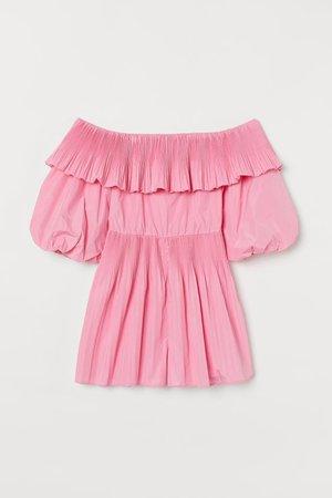 Off shoulder Romper - Pink - Ladies | H&M US