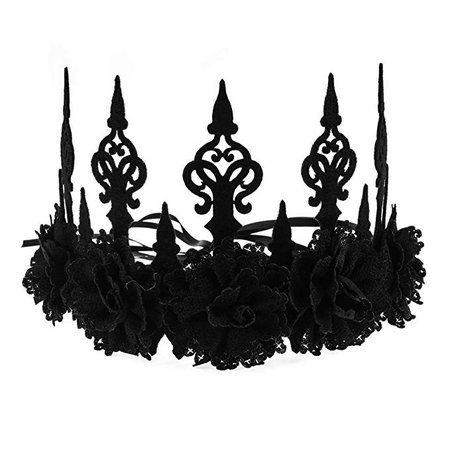 Love Sweety Halloween Vintage Crown Rose Headband Gothic Floral Headpiece (Black Rose) at Amazon Women's Clothing store: