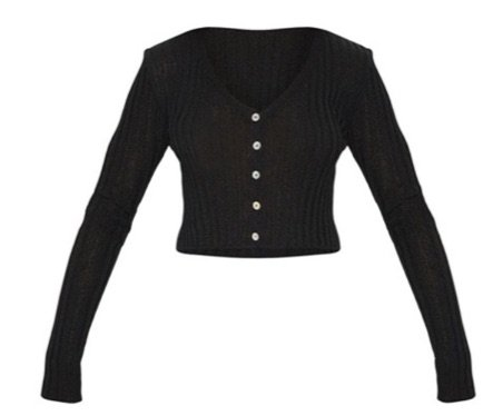 fit cropped cardigan