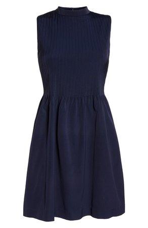 J.Crew High-Neck Stretch Faille Dress | Nordstrom