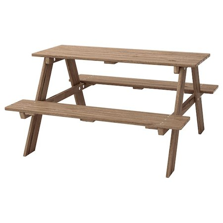 RESÖ Children's picnic table - gray-brown stained gray-brown - IKEA