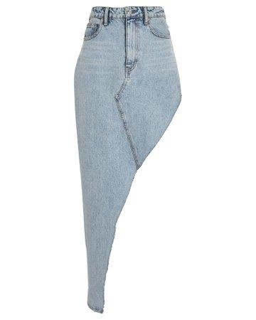 Alexander Wang | Asymmetric Denim Skirt