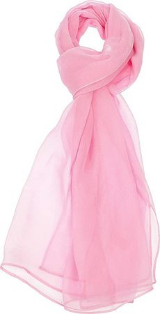 Hand By Hand Women's Solid Chiffon Scarf Silk Blend Light Fresh Wrap [16 White](One Size) at Amazon Women's Clothing store