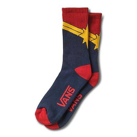 Vans x Marvel Captain Marvel Crew Sock | Shop Womens Socks At Vans