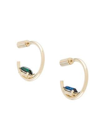 Acne Studios crystal-embellished Hoop Earring - Farfetch