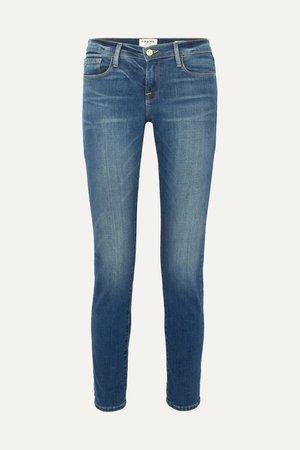 Mid denim Le Garcon slim boyfriend jeans | FRAME | NET-A-PORTER
