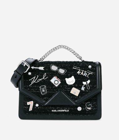 K/KLASSIK PINS SHOULDER BAG- karl Lagerfeld