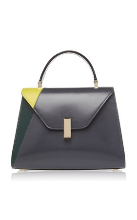 Iside Color-Blocked Leather Shoulder Bag by Valextra   Moda Operandi
