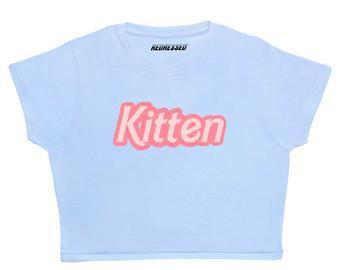 Baby Girl Stars Crop top 90s Grunge Kawaii Pastel | Etsy