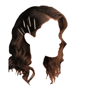 short brown hair clips png
