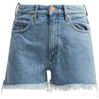Halsy Frayed Denim Shorts - Womens - Denim
