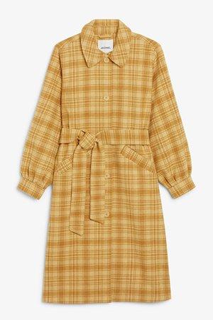 Wool blend coat - Yellow and mustard - Coats - Monki WW
