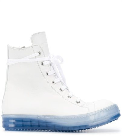 High Top Contrast-Sole Sneakers
