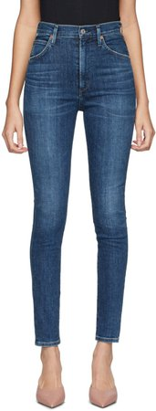 Citizens of Humanity: Indigo Chrissy High-Rise Skinny Jeans | SSENSE UK