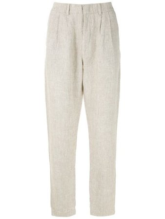 Handred Linen Straight Trousers - Farfetch
