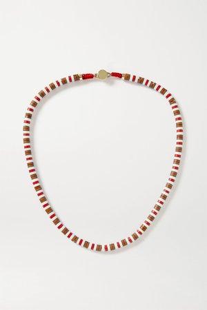 Brown U-Tube wood necklace | Roxanne Assoulin | NET-A-PORTER
